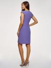 Платье облегающего силуэта с фигурным вырезом oodji #SECTION_NAME# (синий), 22C12001B/42250/7500N - вид 3
