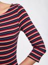 Платье трикотажное базовое oodji #SECTION_NAME# (разноцветный), 14001071-2B/46148/7545S - вид 5