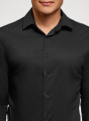 Рубашка базовая приталенная oodji #SECTION_NAME# (черный), 3B140000M/34146N/2900N - вид 4