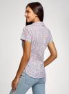 Рубашка хлопковая с нагрудными карманами oodji #SECTION_NAME# (слоновая кость), 11402084-3B/12836/1241F - вид 3