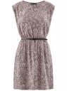 Платье принтованное из вискозы oodji #SECTION_NAME# (розовый), 11910073/26346/4B29E