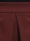Юбка расклешенная со встречными складками oodji #SECTION_NAME# (красный), 11600396-1B/42250/4901N - вид 4