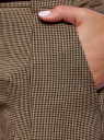 Брюки зауженные с ремнем oodji для женщины (коричневый), 21703119-2/16462/3933O