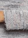 Джемпер укороченный с длинным рукавом oodji для женщины (серый), 14808050/49621/2043X