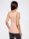 Комплект из двух базовых маек oodji для женщины (розовый), 24315001T2/46147/4A79N