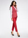 Жилет классический из фактурной ткани oodji для женщины (красный), 12300099-6/46373/4533D - вид 6