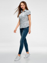 Рубашка из хлопка принтованная oodji #SECTION_NAME# (синий), 11402084-3/12836/7010F - вид 6