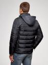 Куртка стеганая с воротником-стойкой oodji #SECTION_NAME# (синий), 1B111005M/48961N/7900N - вид 3