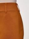 Юбка-карандаш длиной до колена  oodji #SECTION_NAME# (коричневый), 11610003/14007/3100N - вид 4