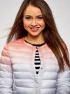 Куртка стеганая с круглым вырезом oodji #SECTION_NAME# (разноцветный), 10204040-1B/42257/4575T - вид 4