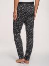 Брюки пижамные принтованные oodji для мужчины (черный), 7L400101I-1/47885N/2910G - вид 3