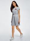 Платье с резинкой на талии oodji #SECTION_NAME# (серый), 14008021-1/46155/2300Z - вид 6