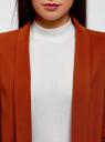 Жакет без застежки с рукавом 3/4 oodji для женщины (красный), 11207010-2B/18600/3101N