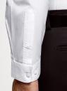 Рубашка базовая из хлопка oodji #SECTION_NAME# (белый), 3B110036M/49280N/1000N - вид 5