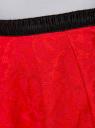 Юбка кружевная с декоративным поясом-резинкой oodji #SECTION_NAME# (красный), 21600297-1/43561/4500L - вид 5