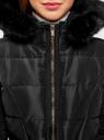 Пальто утепленное с ремнем oodji #SECTION_NAME# (черный), 20204055/45934/2900N - вид 4