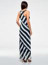 Платье в морском стиле oodji для женщины (белый), 21900324/17288/1279S