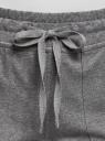 Брюки спортивные на завязках oodji для женщины (серый), 16701061/47420/2300M