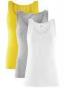 Комплект из трех базовых маек oodji для женщины (разноцветный), 24315001T3/46147/19AXN
