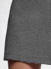 Юбка-трапеция короткая oodji #SECTION_NAME# (черный), 11600413-1/38281/2912G - вид 5