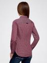 Рубашка принтованная хлопковая oodji для женщины (красный), 11406019-1/38544/7949G