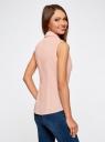 Рубашка базовая без рукавов oodji #SECTION_NAME# (розовый), 11405063-6/45510/4000N - вид 3