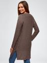Кардиган удлиненный с карманами oodji #SECTION_NAME# (коричневый), 63205246/31347/3735M - вид 3