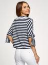 Блузка полосатая в морском стиле oodji #SECTION_NAME# (синий), 21408053-1/42888/7912S - вид 3