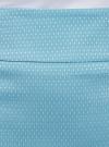 Юбка прямая жаккардовая oodji #SECTION_NAME# (бирюзовый), 21601236-13/46373/7312D - вид 4