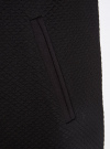 Платье трикотажное с рукавом 3/4 oodji для женщины (черный), 24001100/42408/2900N - вид 5