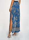 Юбка макси из струящейся ткани oodji #SECTION_NAME# (синий), 13G00002-3B/42816/7540F - вид 3