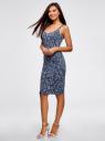 Платье-майка трикотажное oodji #SECTION_NAME# (синий), 14015007-3B/37809/7512F - вид 6