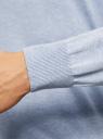 Пуловер с хлопковой вставкой на груди oodji #SECTION_NAME# (синий), 4B212006M/39245N/7010B - вид 5
