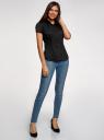 Рубашка хлопковая с коротким рукавом oodji #SECTION_NAME# (черный), 13K01004-1B/14885/2900N - вид 6