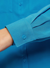 Блузка базовая из вискозы oodji #SECTION_NAME# (синий), 11400355-5/26346/7500N - вид 5