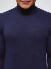 Свитер базовый из хлопка oodji для мужчины (синий), 4B312003M-1/34390N/7900M - вид 4