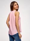 Топ базовый из вискозы oodji для женщины (розовый), 14911008-1B/48756/4000N - вид 3