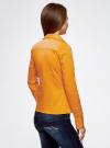 Рубашка хлопковая прилегающего силуэта oodji #SECTION_NAME# (желтый), 21407048/42853/5200N - вид 3