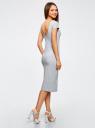 Платье миди с вырезом на спине oodji #SECTION_NAME# (серый), 24001104-5B/47420/2000M - вид 3