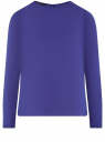 Блузка свободного силуэта с вырезом-капелькой на спине oodji #SECTION_NAME# (фиолетовый), 11411129/45192/7500N