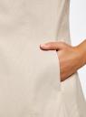 Жилет классический из фактурной ткани oodji для женщины (бежевый), 12300099-6/46373/3320D