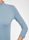 Водолазка хлопковая с рукавом 3/4 oodji #SECTION_NAME# (синий), 15E11007B/46147/7400N - вид 5
