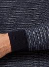 Джемпер вязаный с круглым вырезом oodji #SECTION_NAME# (синий), 4L112216M/46231N/7574J - вид 5