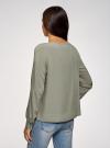 Блузка вискозная свободного силуэта oodji #SECTION_NAME# (зеленый), 11411135-4B/42807/6000N - вид 3