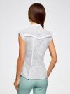 Блузка из ткани деворе oodji #SECTION_NAME# (белый), 11405092-5/26206/1000N - вид 3