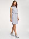 Платье хлопковое на кулиске oodji #SECTION_NAME# (синий), 11901147-4B/45202/1079O - вид 6