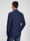 Пиджак приталенный с накладными карманами oodji #SECTION_NAME# (синий), 2B510005M/39355N/7500N - вид 3