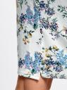Юбка-карандаш из фактурной ткани oodji #SECTION_NAME# (белый), 14101088-1/42588/1019F - вид 5