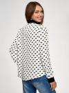 Блузка базовая из струящейся ткани oodji #SECTION_NAME# (белый), 11400368-7B/43414/1229O - вид 3