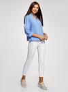 Блузка вискозная с рукавом-трансформером 3/4 oodji #SECTION_NAME# (синий), 11403189-2B/26346/7500N - вид 6